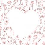 картинка любовь, бесшовный фон, сердце, 14 февраля