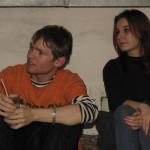 Ира и Макс на выставке Леонида муртазина