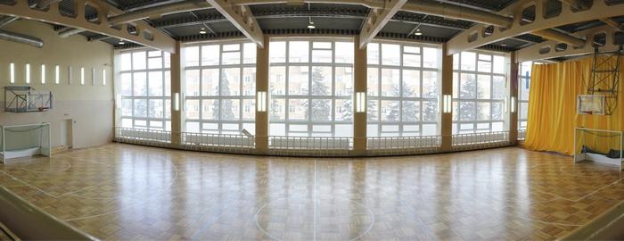 Спортивный зал панорамное фото