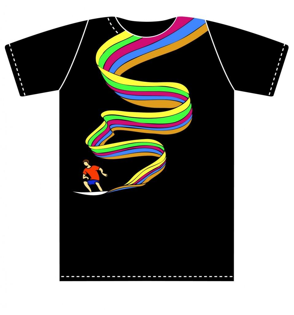 сёрфингист, волны, T-shirt