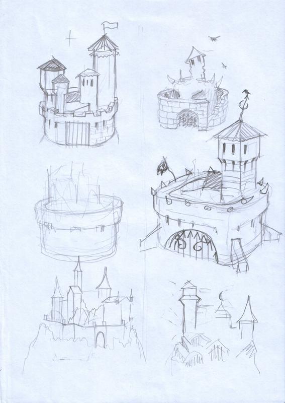 эскизы замки мин для игры, дизайнер игр