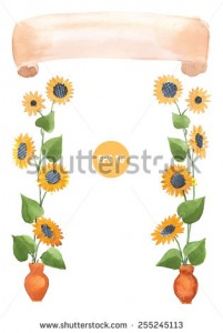 sunflowers frame